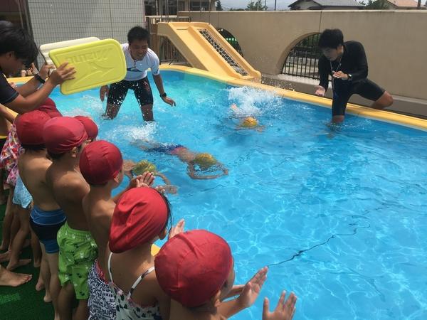 若葉幼稚園短期水泳最終日